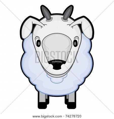children cartoon illustration of a sheep