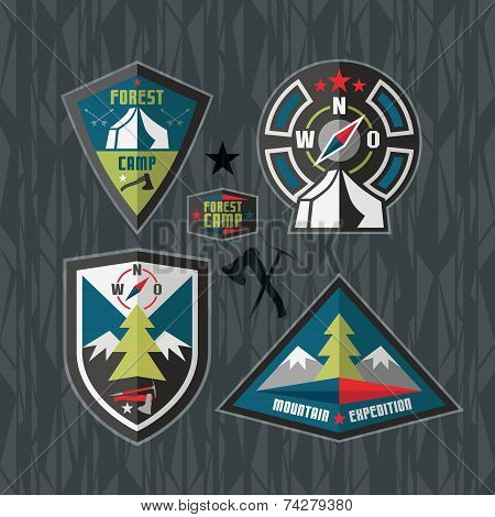 Camping And Hiking Badges