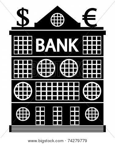 Bank Icon On White