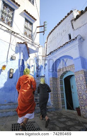 CHEFCHAOUEN, MOROCCO - AUGUST 17, 2013: