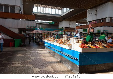 Green Bazaar In Almaty