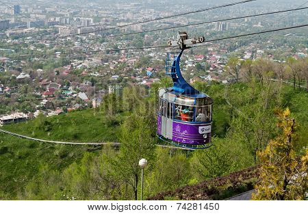Cable Car Line To Kok-tobe Mountain In Almaty