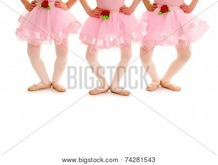 Children Legs In Ballet Plie