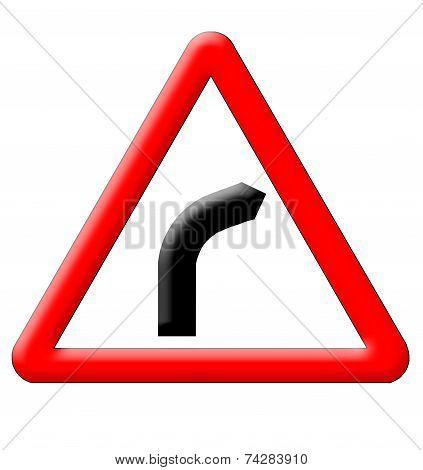 Dangerous Turn Sign