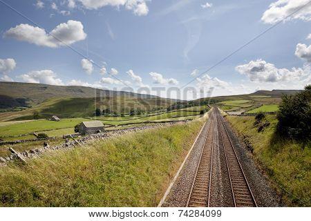 Railway Tracks Near Kirkby Stephen, Cumbria