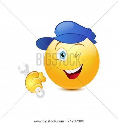 Repairman emoticon