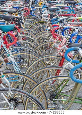 Vintage Bicycles Nicely Parked