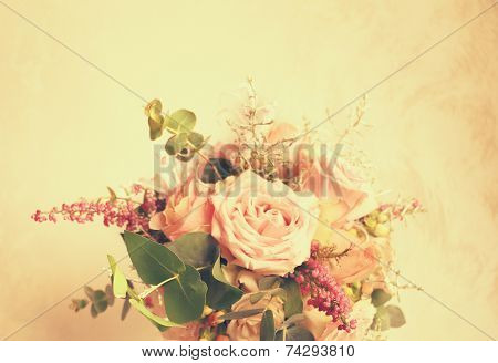 flowers arrangement In The Retro Style
