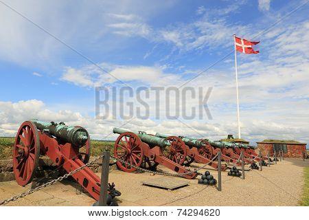 Cannons In Kronborg Castle, Helsingor, Denmark