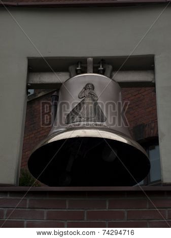 Bells In The Sanctuary Of Mercy In Cracow In Poland Lagiewniki
