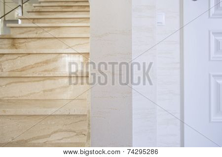 Marmoreal Staircase In Modern House