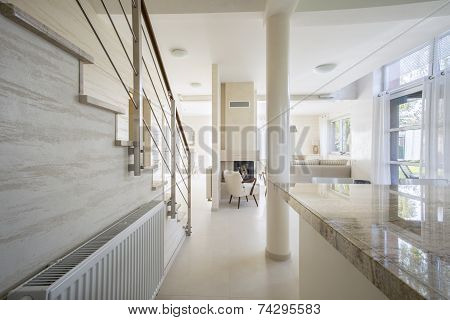 Granitic Worktop In Bright Interior