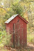 picture of outhouses  - Located in a rural area of Missouri - JPG