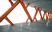 picture of girder  - Beams and concrete structure 3D rendering - JPG