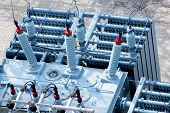 pic of substation  - electrical energy and power substation transformers insulators - JPG