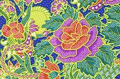 stock photo of batik  - The Traditional batik sarong pattern background style - JPG