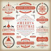 picture of flourish  - Christmas decoration vector design elements - JPG