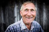 picture of redneck  - Happy smiling elder senior man portrait - JPG