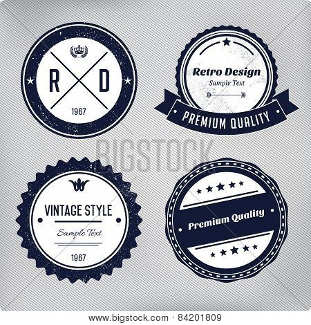 Retro Logo Elements Set