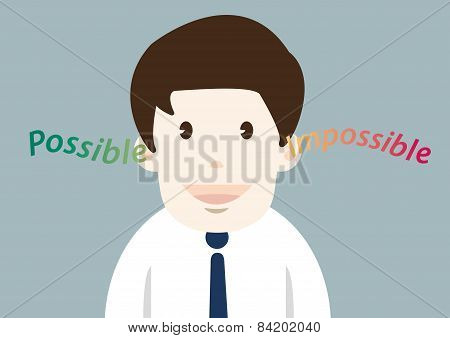 Happiness Businessman Possible Thinking