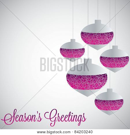 White Filigree Baubles With Gradient In Vector Format.
