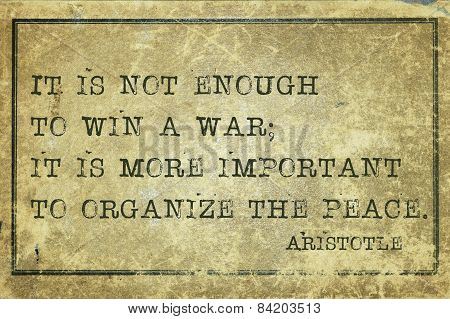 Win War Aristotle