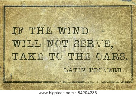 Take To Oars Proverb