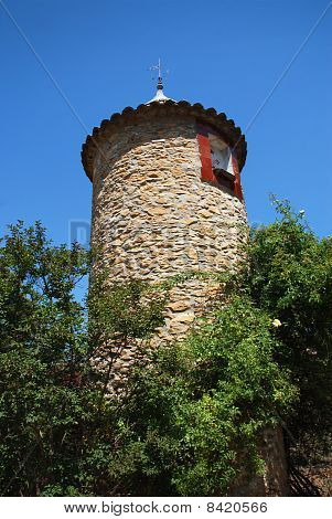 The Ancient Tower In Provence France