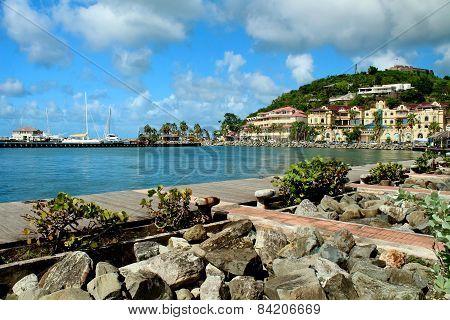 Coastline in St. Martin