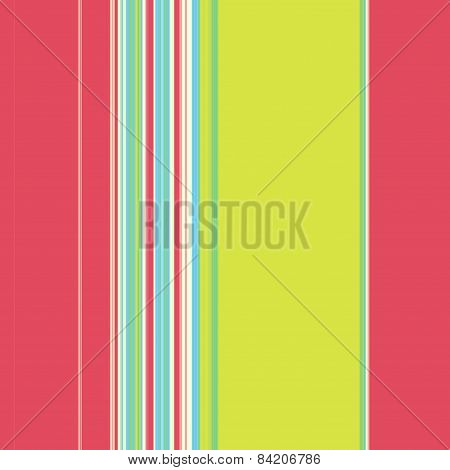 Vertical Stripy Pattern In Red, Blue And Green