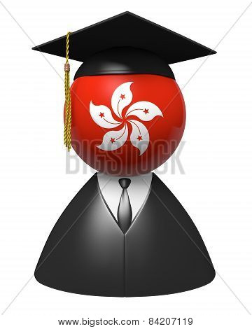 Hong Kong college graduate concept for schools and academic education