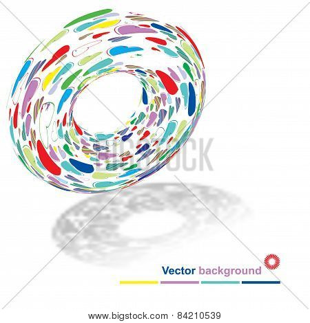 Background of the torus with the texture of hearts with place fo