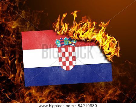 Flag Burning - Croatia