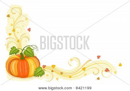 Autumn Harvest With Tasty Pumpkin