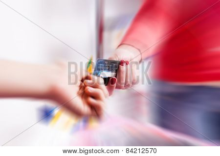 Paying With Credit Card In Pharmacy