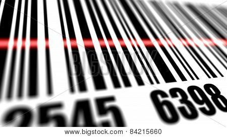 Closeup Of Scanner Scanning Barcode