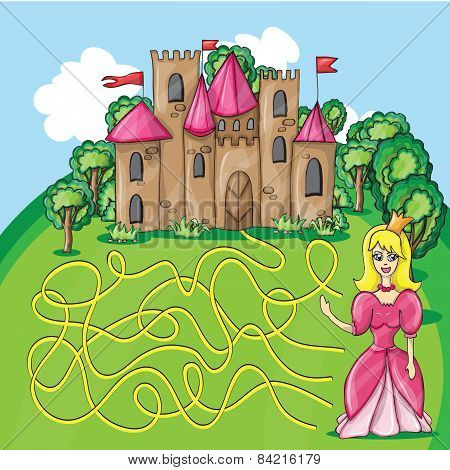Maze Game - Hehp Princess Find The Way To Her Castle
