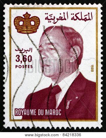 Postage Stamp Morocco 1988 Hassan Ii, King Of Morocco