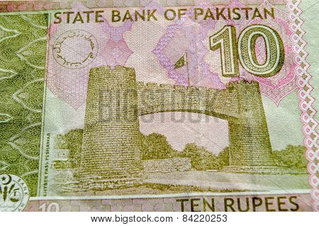 Khyber Pass on Pakistan Banknote