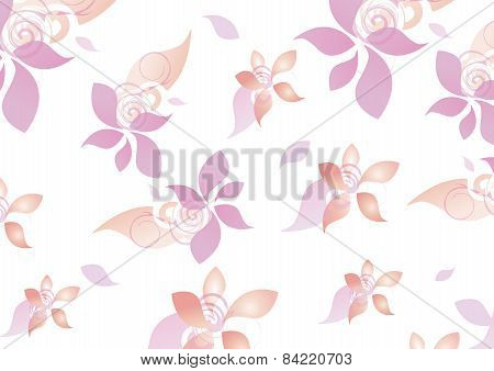 Floral Pattern Teen Girls Background