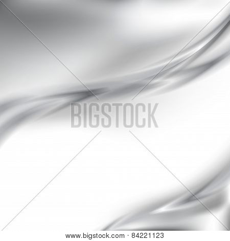 Abstract Metal Silver Border Background Template