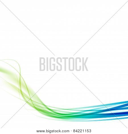Green Blue Transparent Modern Speed Swoosh Line Flow