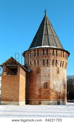 Thunder Ancient Tower In Smolensk