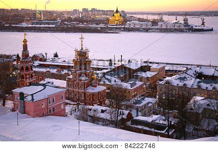 Sunset In Winter Nizhny Novgorod