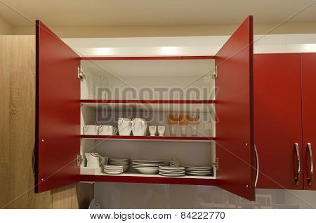Kitchen cupboard in living room