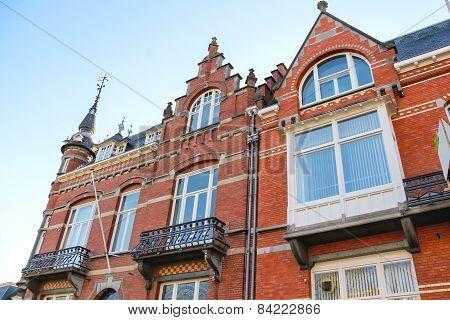 The Facade Of A Beautiful Home  In The Dutch Town Den Bosch.