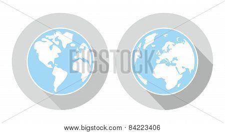 Hand drawn earth on grey background