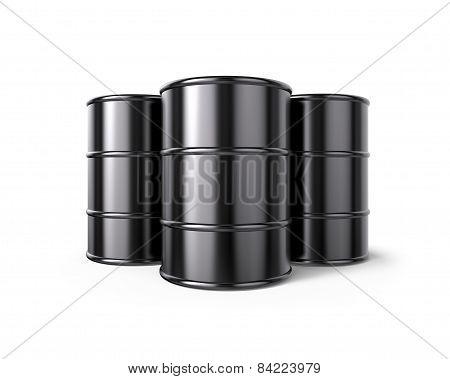 Classic Black Oil Barrels