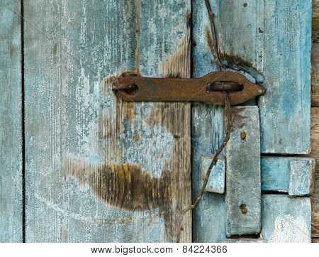 Wooden Door Of Old Barn