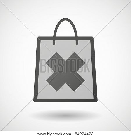 Shopping Bag Icon With An Irritating Substance Sign